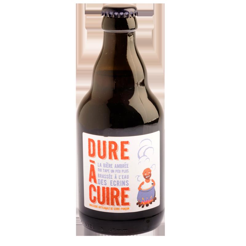 Bière artisanale ambrée La Dure à Cuire. Brasserie de Serre-Ponçon, producteur Pacaa-Panier