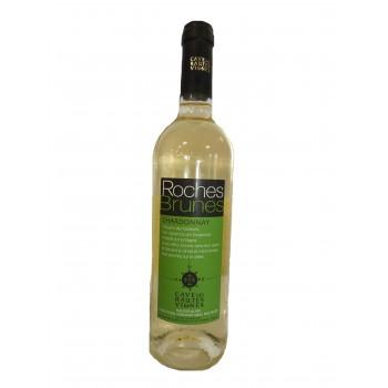 Bouteille Vin Blanc roche brunes