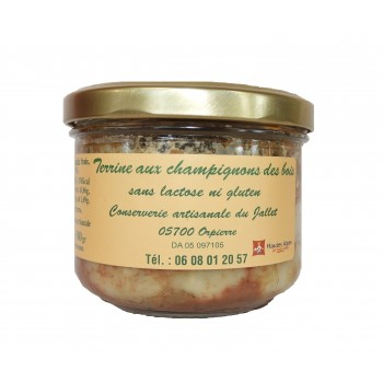 Terrine aux champignons des bois de la Conserverie Artisanale du Jallet