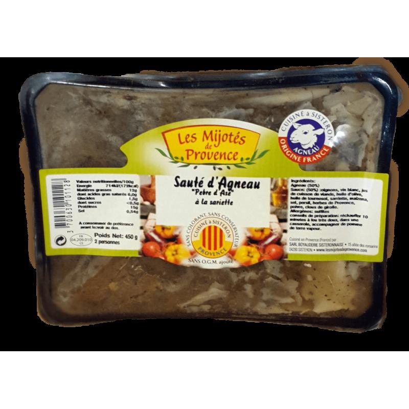 """Sauté d'agneau """"Pebre d'Ase"""" à la sariette - la boyauderie sisteronnaise, plat cuisiné de la Provence"""