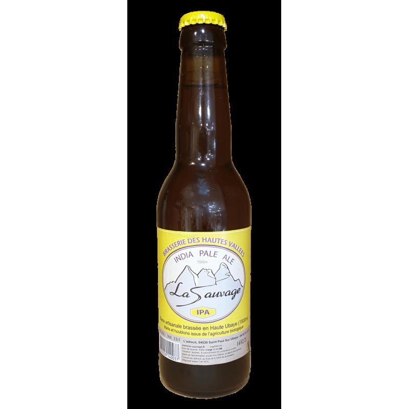 Bière IPA la sauvage de la brasserie des hautes valées 33cl