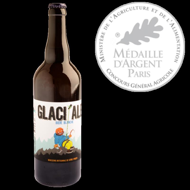bière la glaci'ale de la brasserie de serre ponçon, médaille argent concours général agricole 2020