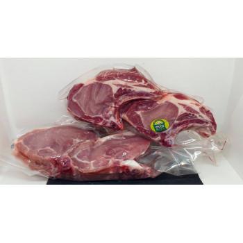 Colis Ré-action Discount de la Maison Lamorlette, boucherie charcuterie, cotes de porc