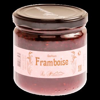 """colis """"bin d'chez nous"""" confiture de framboise. Maison Lamorlette charcuterie boucherie."""