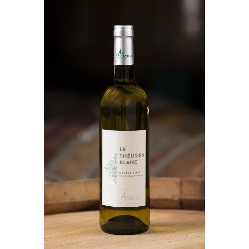 Bouteille de vin le Theüsien blanc