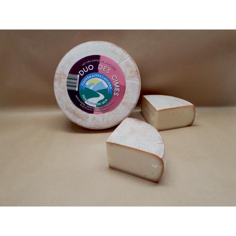 Fromage Duo des cimes de la coopératives laitière des alpes du sud, fromage de chèvre et vache