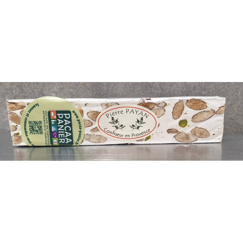 Barre de nougat de Provence 100g de pierre Payan producteur PACAA Panier à salérans