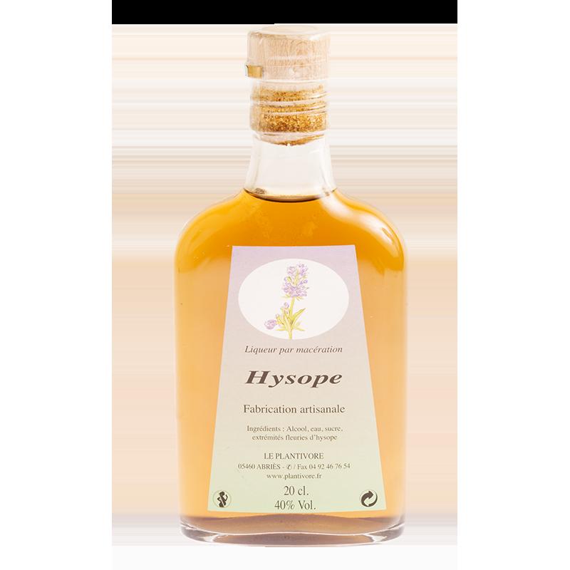 Flask d'hysope, liqueur d'hysope, unbe plante des montagne au gout légèrement mentholé fabriqué par le Plantivore