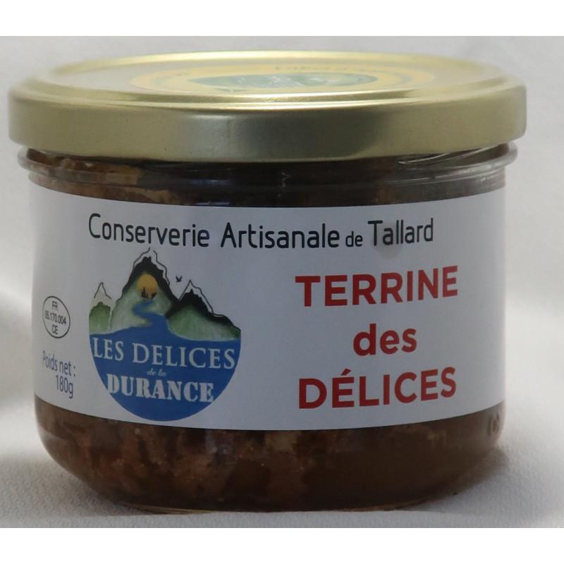 Terrine des Délice, faite par les délices de la Durance, un producteur PACAA Panier basé à Tallard