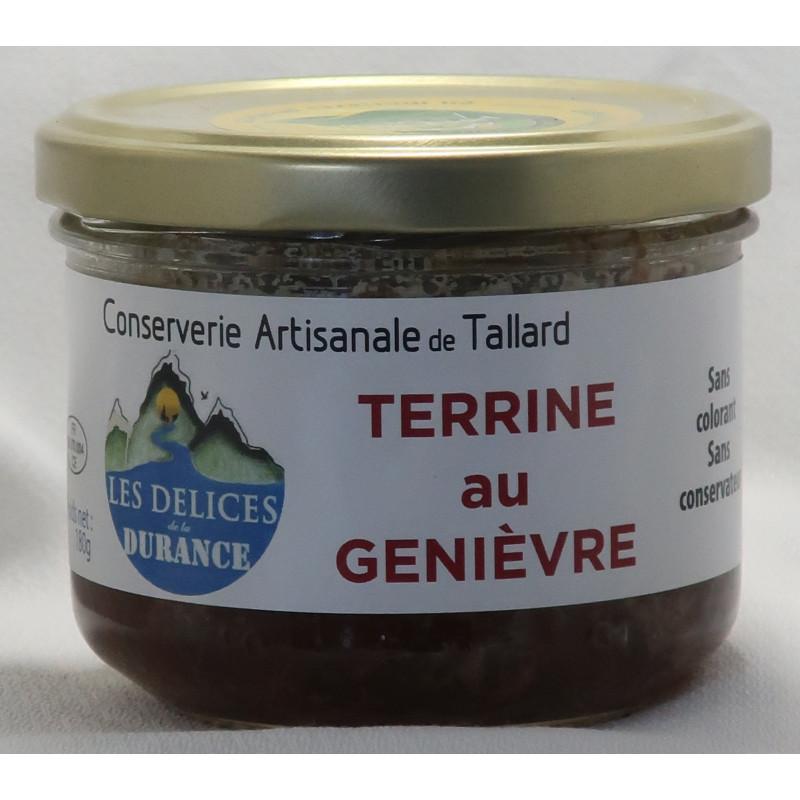 Terrine de Genièvre des délices de la Durance, un producteur PACAA Panier basé à Tallard