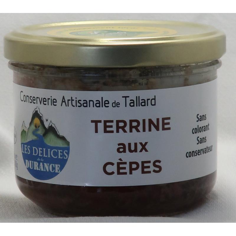 Terrine aux cèpes des délices de la Durance, un producteur PACAA Panier basé à Tallard