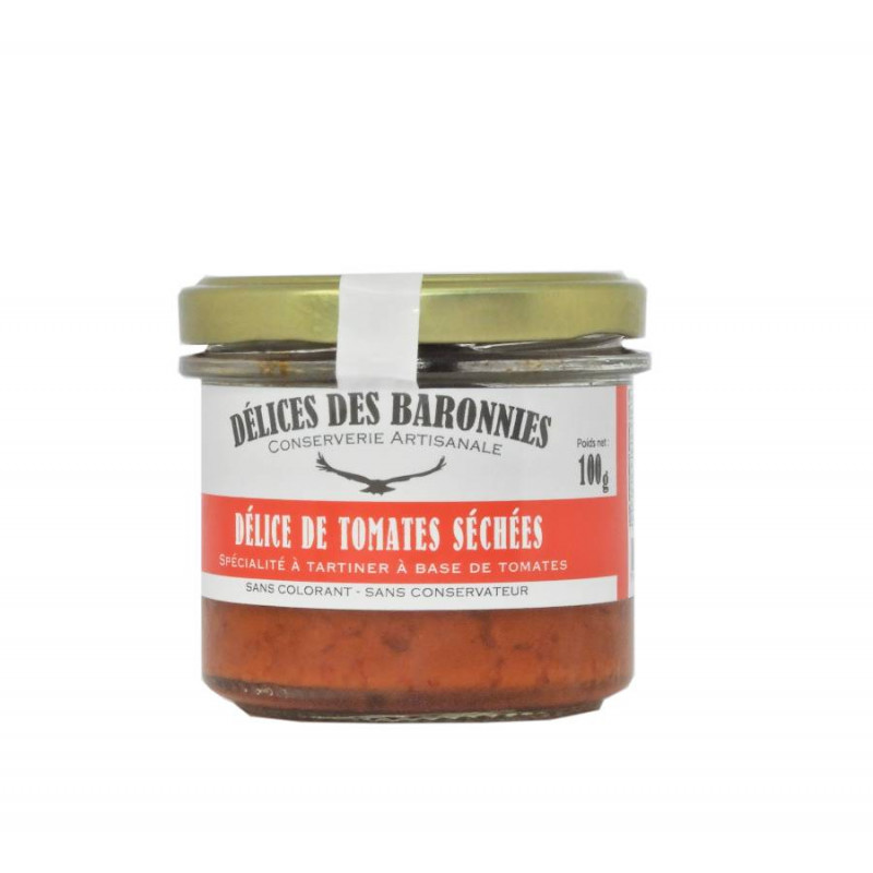 tartinade tomates séchées, délices des baronnies